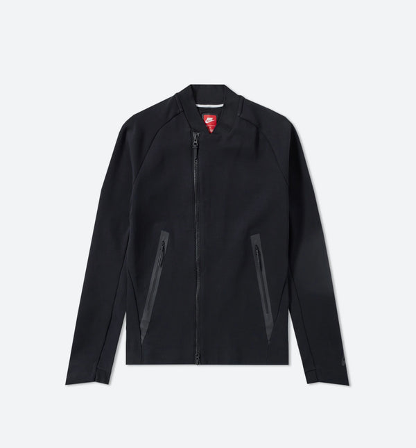 NIKE SPORTSWEAR TECH FLEECE JACKET MEN'S - BLACK