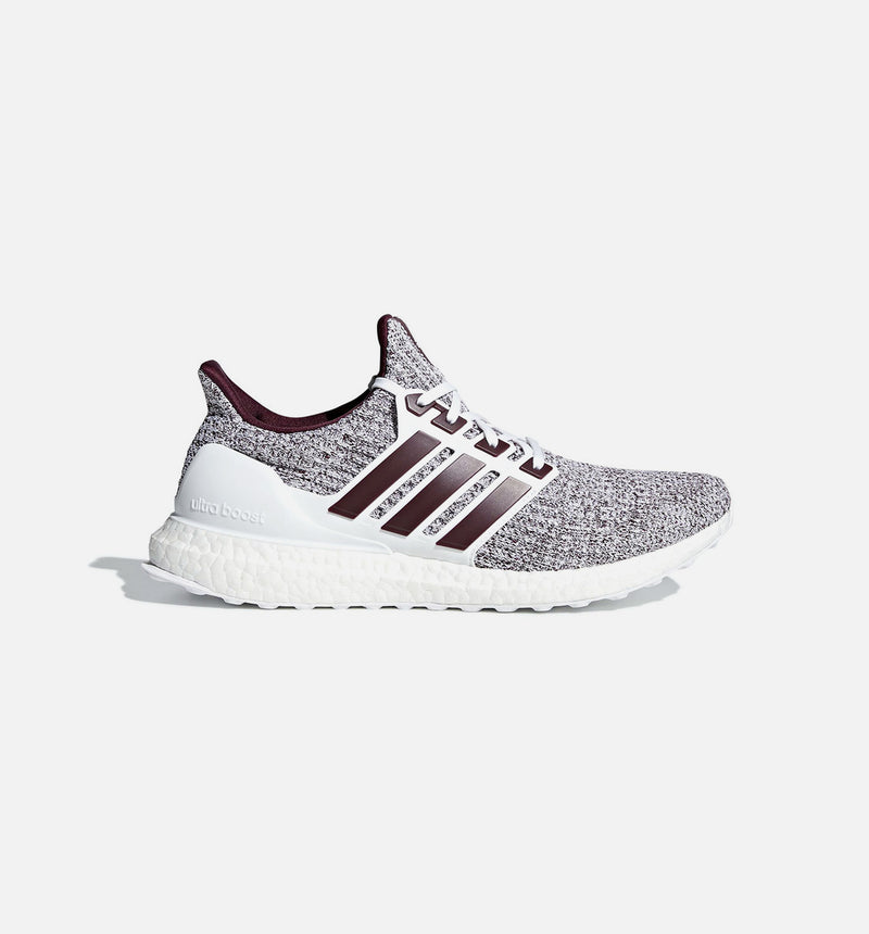 ULTRABOOST 4.0 MENS SHOE - WHITE/BURGUNDY