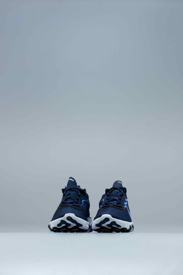 REACT ELEMENT 55 MENS SHOES - MIDNIGHT NAVY/WHITE/BLACK/ROYAL PULSE