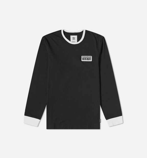 ADIDAS X NEIGHBORHOOD COLLECTION MENS T-SHIRT BLACK/WHITE