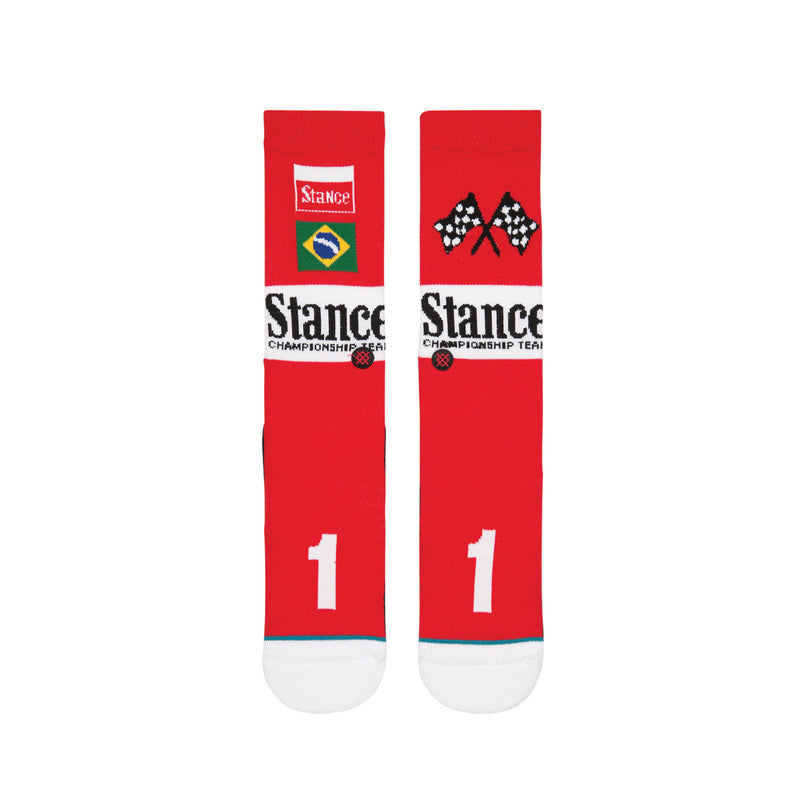 STANCE PRIX CLASSIC CREW SOCK MEN'S - RED/BLACK/MULTI