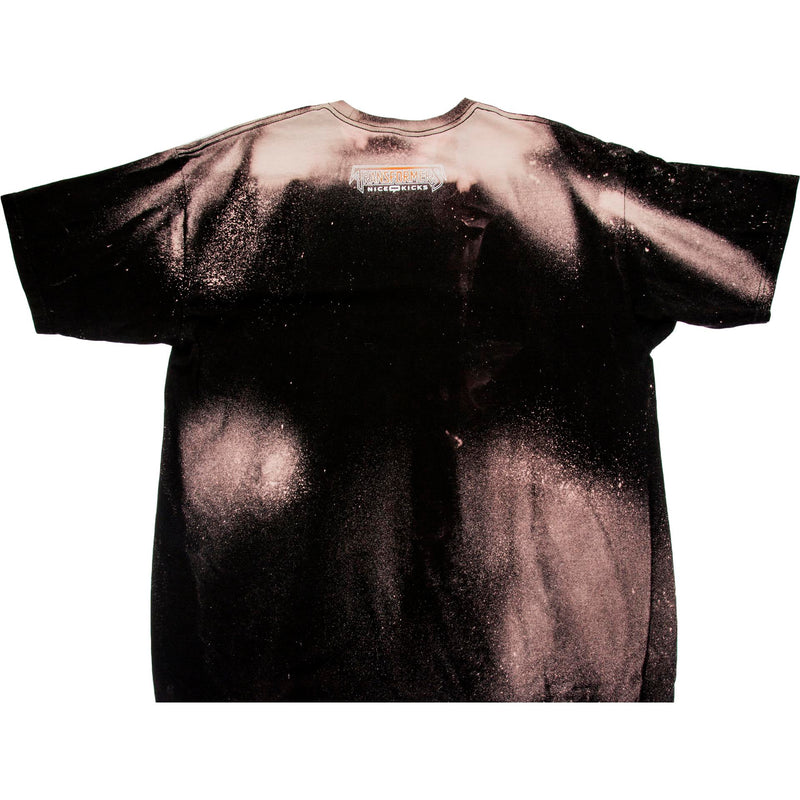 NICE KICKS X TRANSFORMERS MEGATRON BLEACHED TEE MEN'S - BLACK