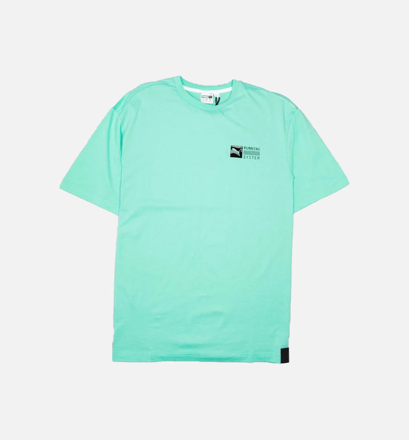 RS-0 CAPSULE MENS T-SHIRT - TEAL/TEAL