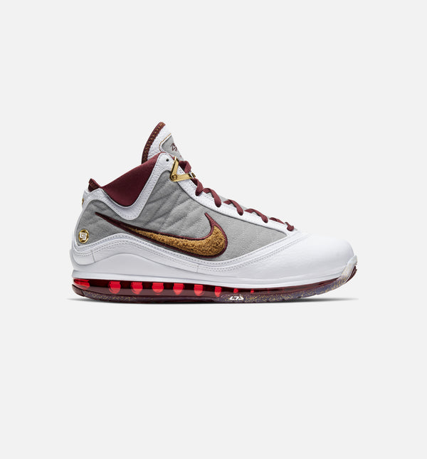 NIKE LEBRON 7 MVP MENS BASKETBALL SHOE - WHITE/RED/GREY/BRONZE