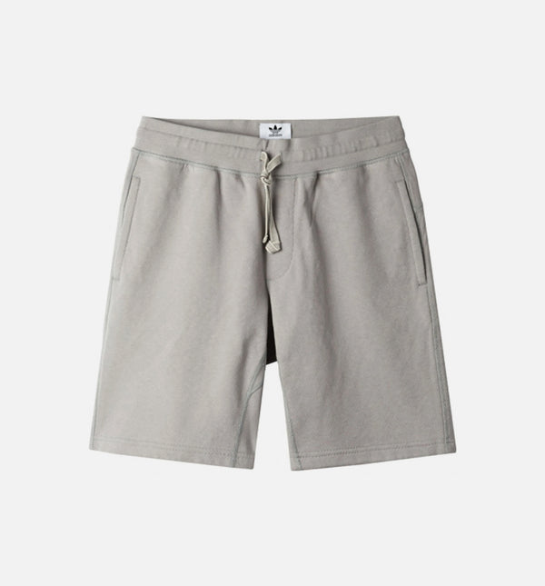 WINGS + HORNS BONDED LINEN MENS SHORTS - SOLID GREY