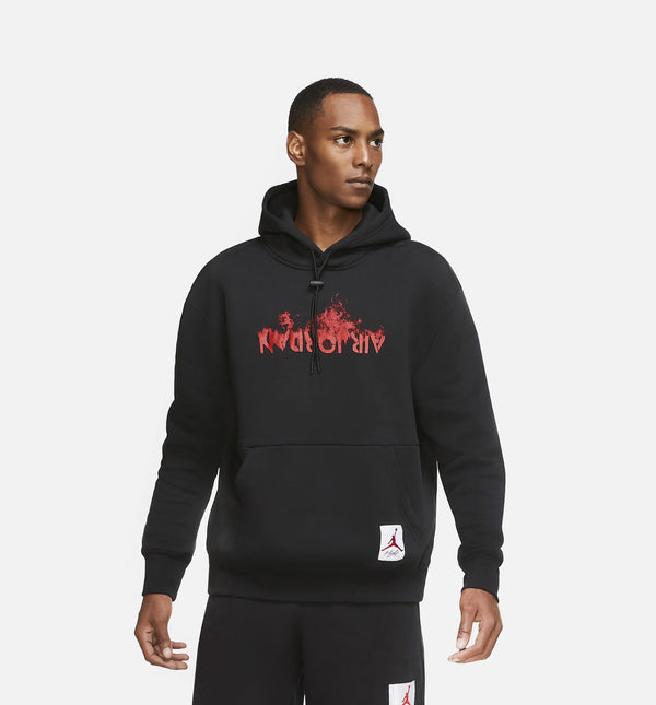 AIR JORDAN 4 FLC MENS HOODIE - BLACK/RED