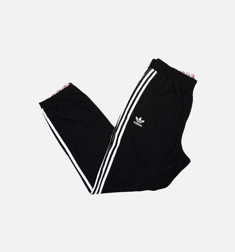 HAGT REVERSIBLE MENS TRACK PANTS - BLACK/WHITE