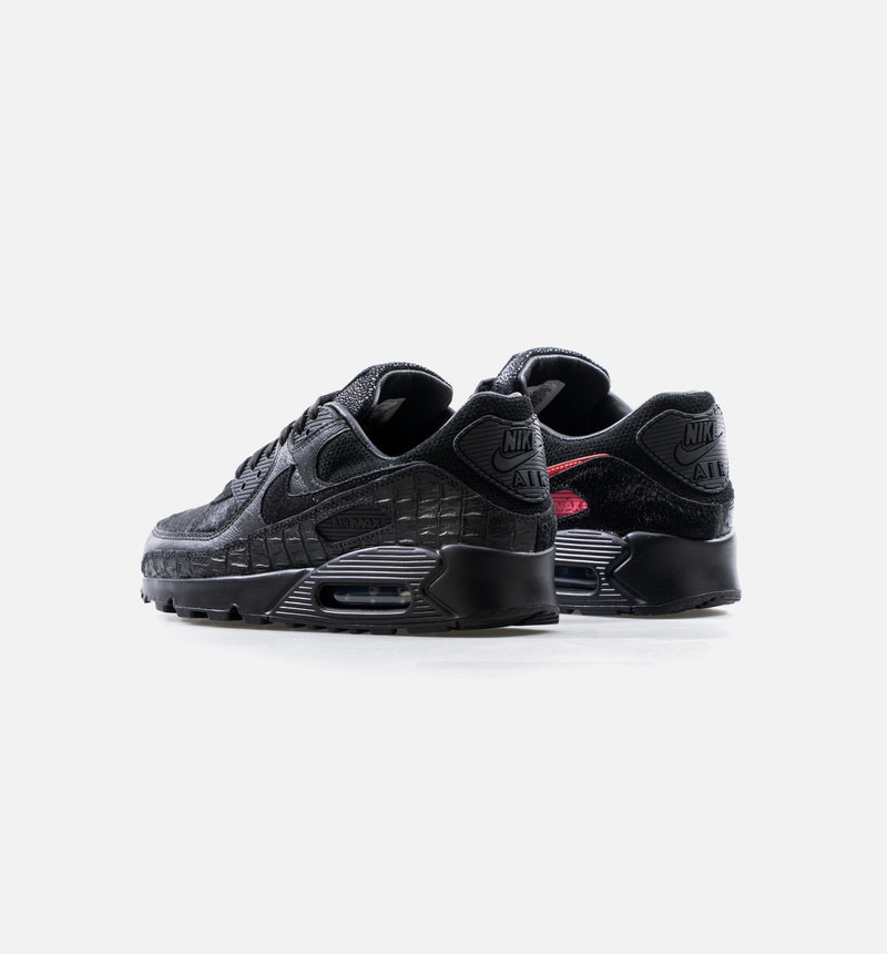 AIR MAX 90 QS MASHUP MENS RUNNING SHOE - BLACK/RED