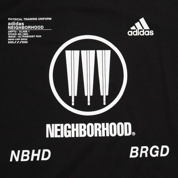 ADIDAS X NEIGHORHOOD MENS T-SHIRT - BLACK/WHITE