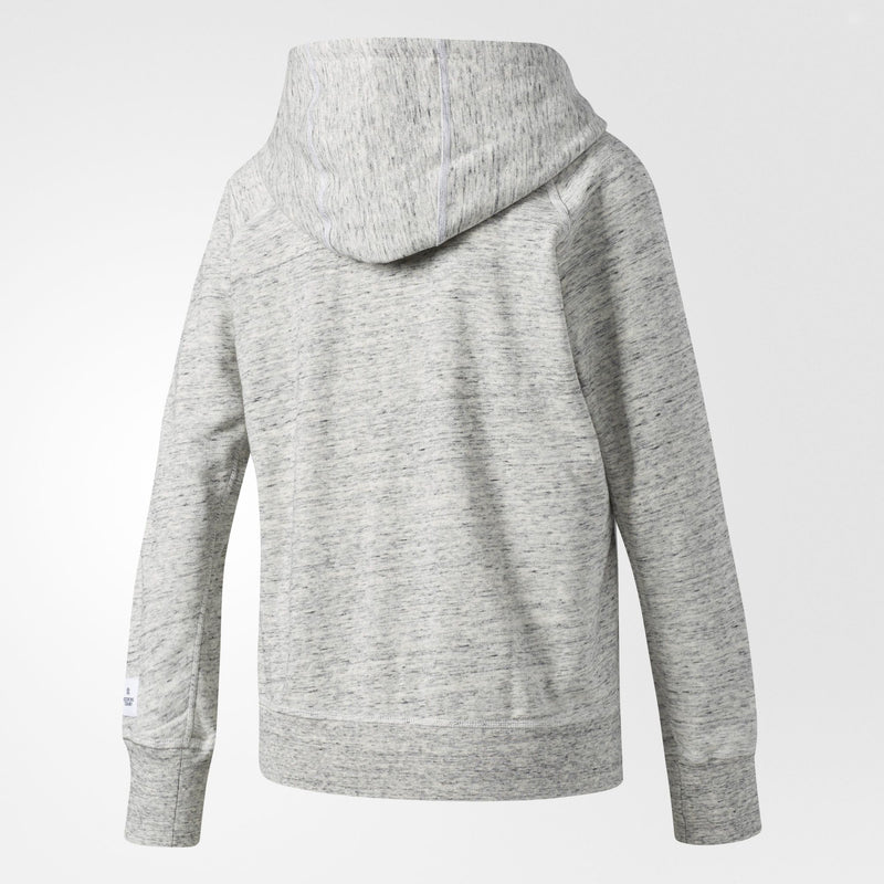 ADIDAS ATHLETICS X REIGNING CHAMP FRENCH TERRY HOODIE WOMEN'S - GREY/WHITE