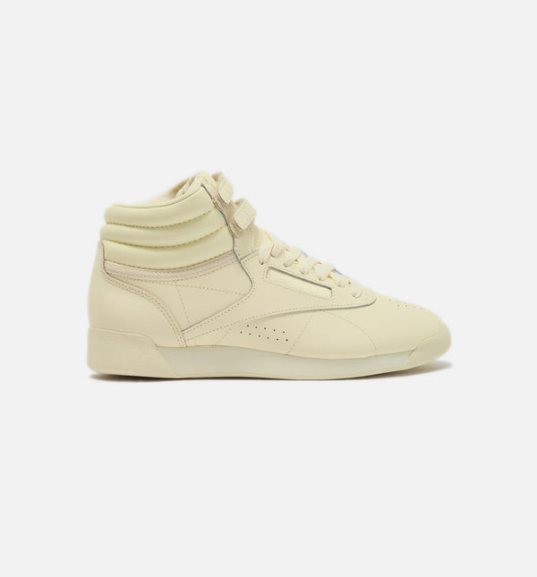 FREESTYLE TENNIS HI WOMENS SHOES - WASHED YELLOW/YELLOW