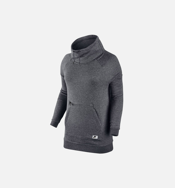 NIKE SPORTSWEAR TECH FLEECE HOODIE WOMEN'S - CARBON HEATHER