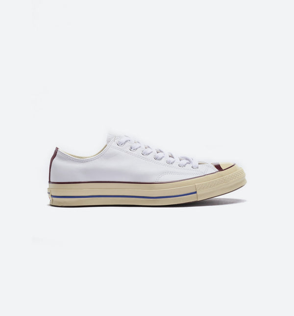 CHUCK TAYLOR ALL STAR 70 MENS SHOES - WHITE/DARK BURGUNDY/RETRO BLUE