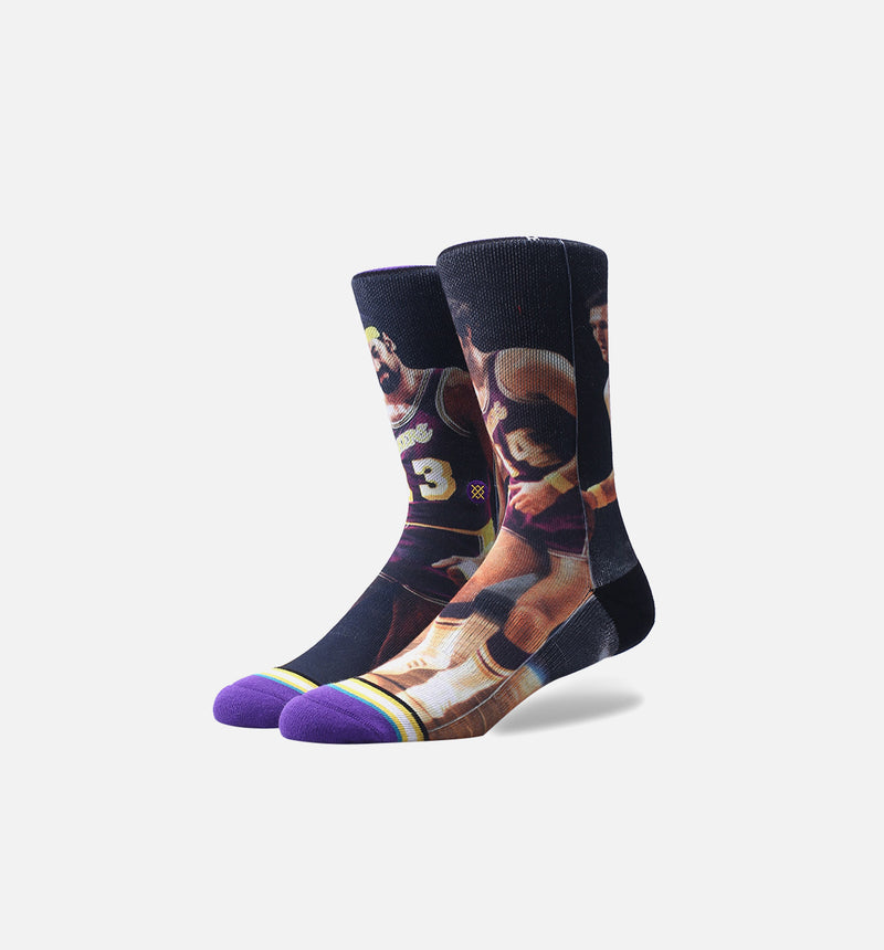 Stance NBA Los Angelels Lakers Legends Socks (Mens) - Yellow/Purple