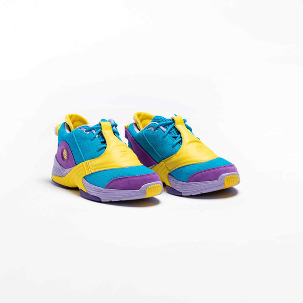 BBC ICE CREAM X REEBOK ANSWER V MENS LIFESTYLE SHOE - TEAL/PURPLE/YELLOW