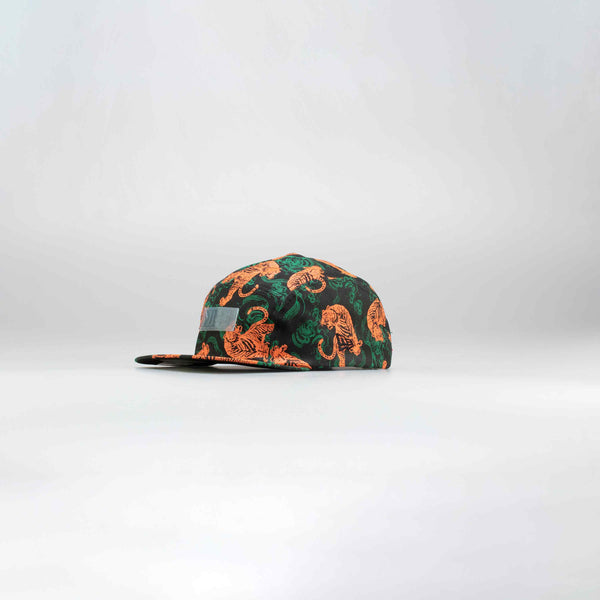 NICE KICKS LIFE TIGER HAT - BLACK/ORANGE/GREEN