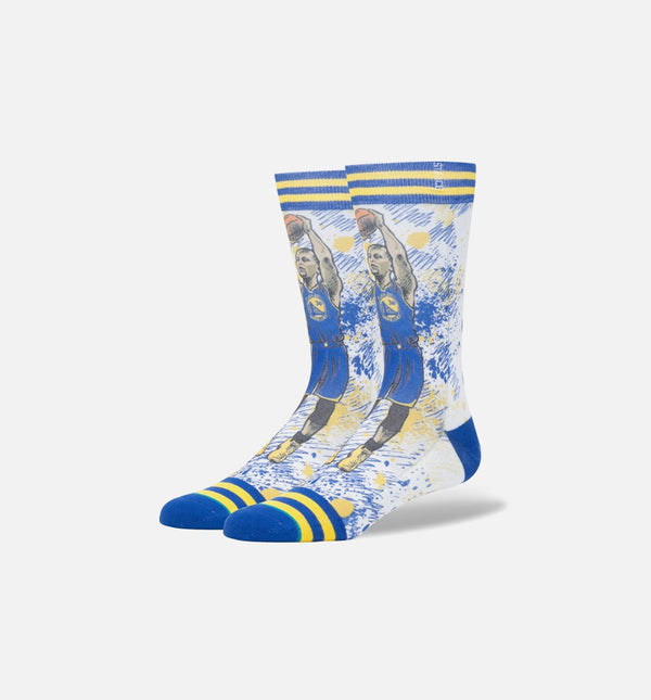STANCE TF STEPHEN CURRY CLASSIC CREW SOCKS MEN'S - ROYAL BLUE/YELLOW