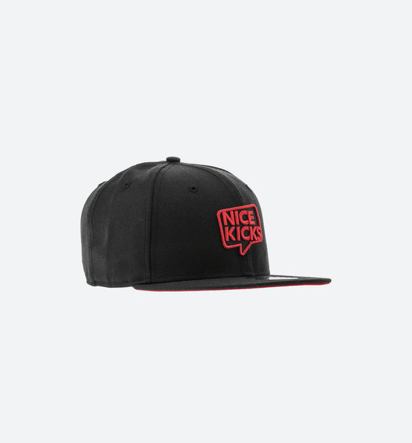 NEW ERA X NICE KICKS 9FIFTY SNAPBACK HAT - BLACK/RED