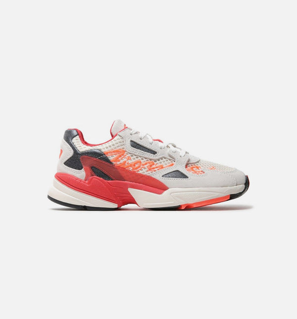 FIORUCCI FALCON WOMENS SHOE - OFF WHITE/RED/SOLAR ORANGE