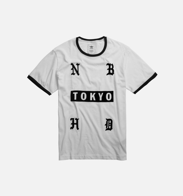 ADIDAS X NEIGHBORHOOD COLLECTION MENS T-SHIRT - WHITE/BLACK
