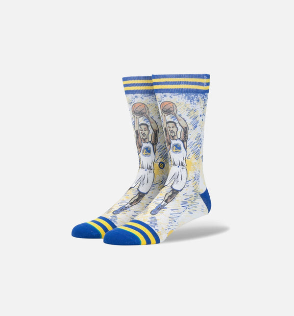 STANCE TF KLAY THOMPSON CLASSIC CREW SOCKS MEN'S - BLUE/YELLOW