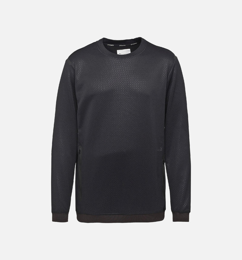 PUMA X STAMPD CREW NECK SWEATSHIRT MEN'S - PUMA BLACK
