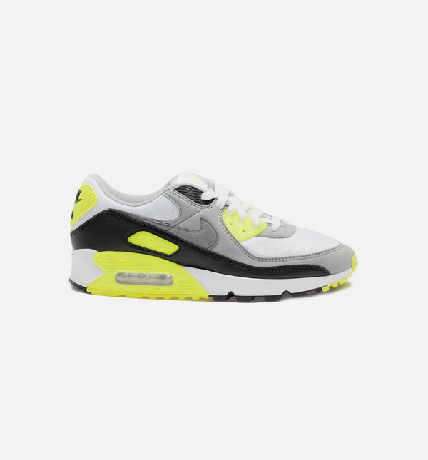 AIR MAX 90 VOLT MENS LIFESTYLE SHOE - WHITE/GREY/VOLT