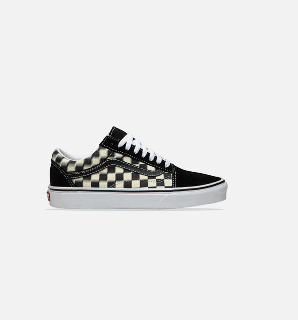 OLD SKOOL BLUR CHECK MENS SHOE - BLACK/CLASSIC WHITE