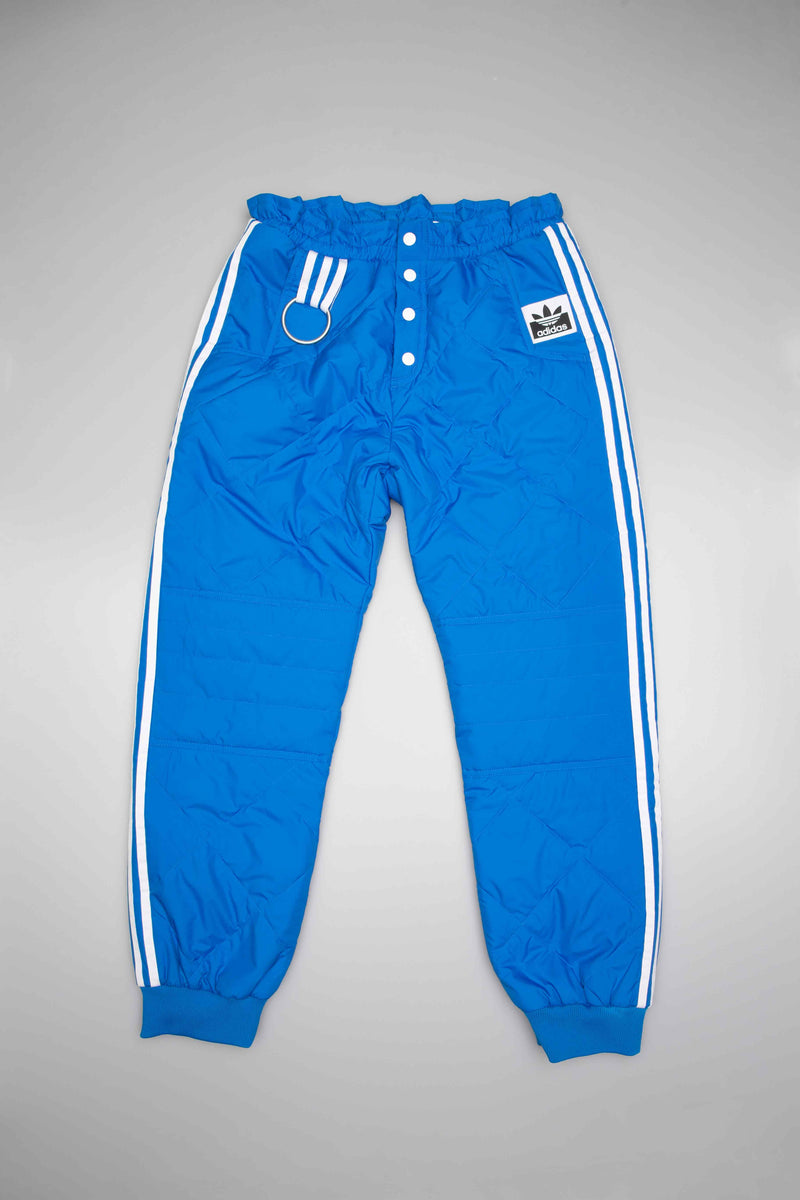 OLIVIA OBLANC X ADIDAS X KENDALL JENNER QUILTED WOMENS TRACK  PANT - BLUE