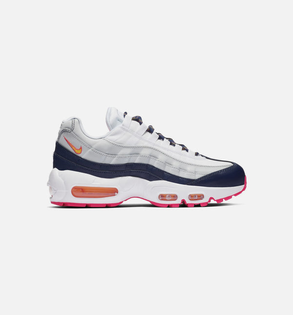 AIR MAX 95 WOMENS SHOE - MIDNIGHT NAVY/LASER ORANGE/PURE PLATINUM