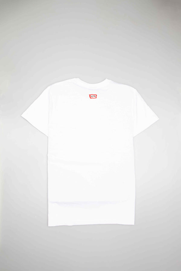 GROSSO KNIT MENS T-SHIRT - WHITE/WHITE