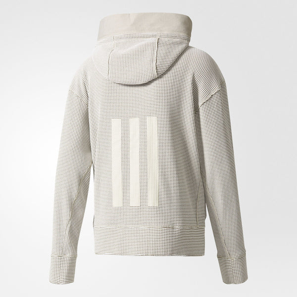 ADIDAS DAY ONE WAFFLE HOODED TRACK TOP JACKET MEN'S - CREME/BROWN