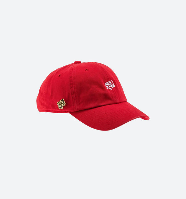 "Nice Kicks ""Dad Hat"" - Red/White"