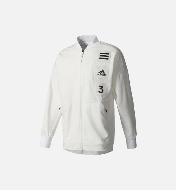 ADIDAS COACH JACKET MEN'S - WHITE/BLACK