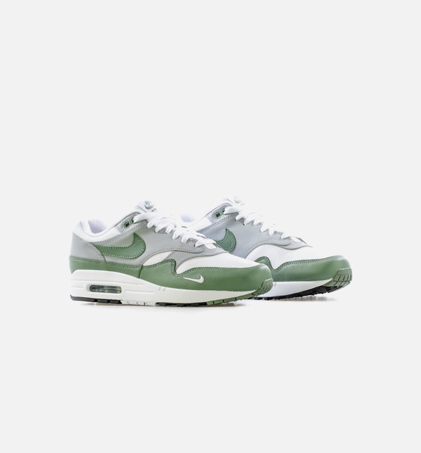 AIR MAX 1 SPIRAL SAGE MENS LIFESTYLE SHOE - WHITE/GREY/GREEN