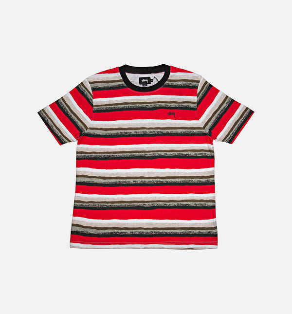 Stüssy Painted Stripe Crew Shirt (Mens) - Red