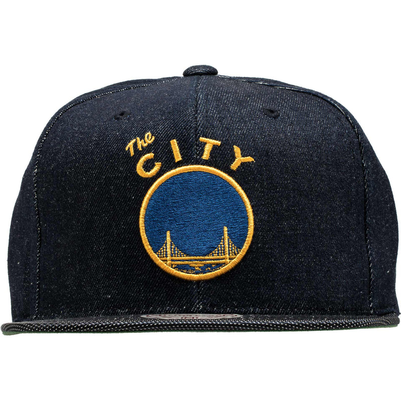 MITCHELL AND NESS SAN FRANCISCO WARRIORS SNAPBACK MEN'S - DENIM/YELLOW/BLUE