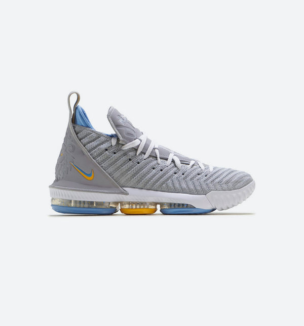 NIKE LEBRON 16 MINNEAPOLIS LAKERS MENS SHOE - WOLF GREY/WHITE-UNIVERSITY BLUE