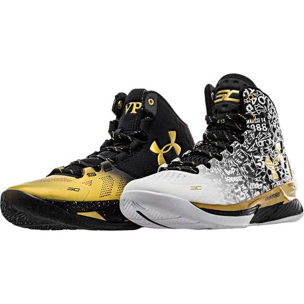 "UNDER ARMOUR CURRY ""MVP BACK 2 BACK PACK"" MEN'S - BLACK/WHITE/GOLD"
