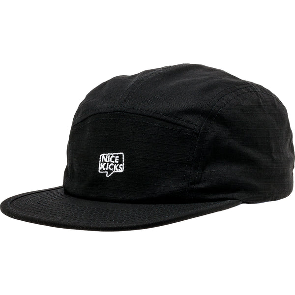 NICE KICKS PREMIUM MEN'S ADJUSTABLE HAT - BLACK/WHITE