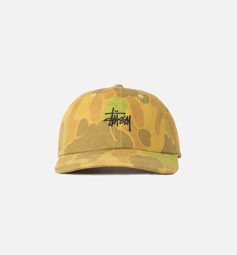 STUSSY JACQUARD CAMO STRAPBACK HAT MEN'S - CAMO/BROWN