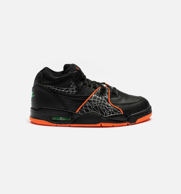 AIR FLIGHT 89 ALL-STAR MENS BASKETBALL SHOE - BLACK/BLAZE ORANGE- GREEN STRIKE