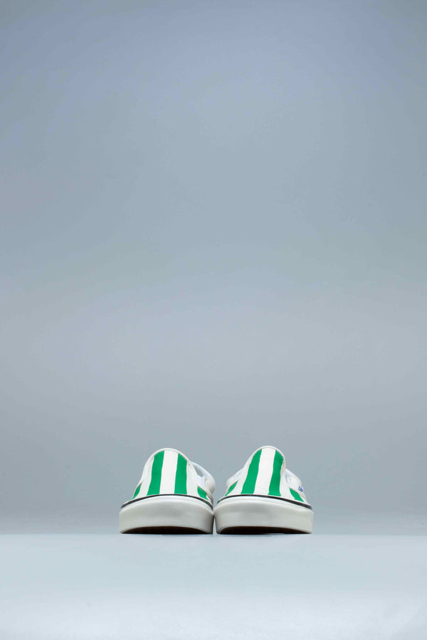 ANAHEIM FACTORY CLASSIC SLIP ON 98 DX MENS SHOES - OG WHITE/OG EMERALD/BIG STRIPES