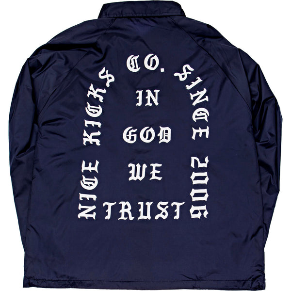 "NICE KICKS ""PABLO"" COACH MENS JACKET - NAVY"