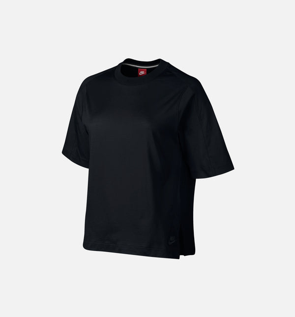 NIKE SPORTSWEAR BONDED TOP WOMEN'S - BLACK