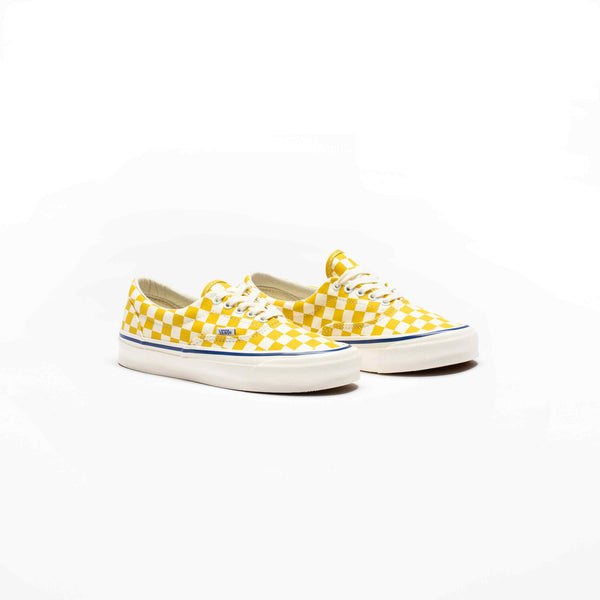 VAULT OG ERA LX CHECKERBOARD MEN'S LIFESTYLE SHOE - YELLOW/WHITE