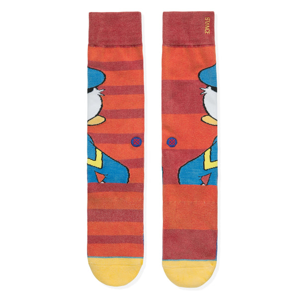 STANCE DONALD DUCK SOCKS MEN'S - RED/BLUE/WHITE/BLACK/YELLOW