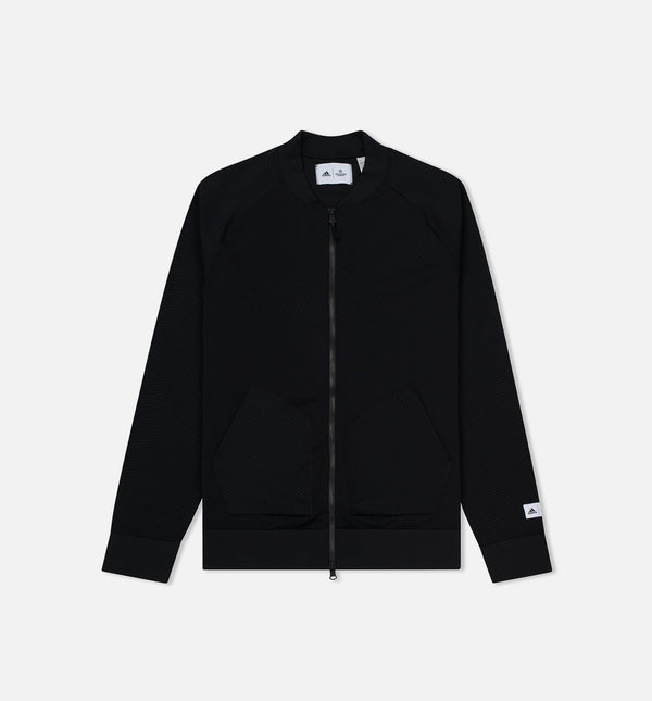ADIDAS ATHLETICS X REIGNING CHAMP PRIMEKNIT BOMBER JACKET MEN'S - BLACK