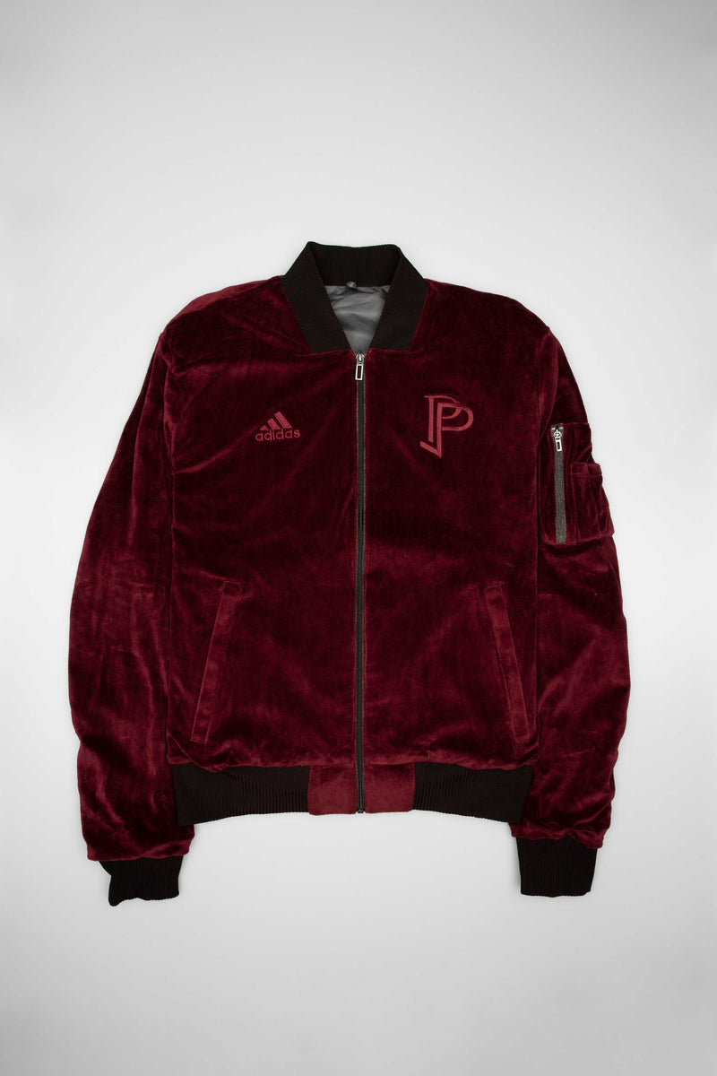 TANGO POGBA MENS REVERSIBLE JACKET - MAROON/GREY