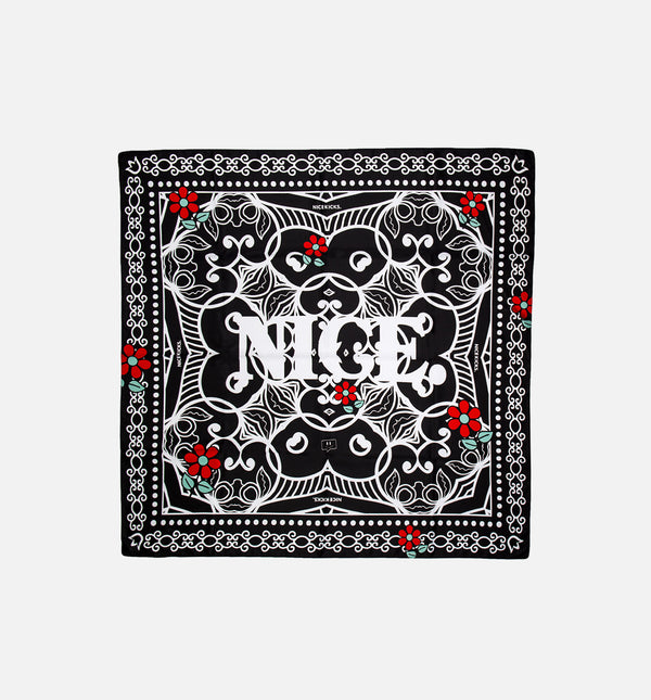 NICE DAY SILK SCARF - BLACK